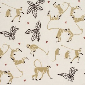Monkeys - Taupe/Rust/Natural - Linen - £135 pm