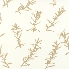Rosemary (Taupe) - white - £130 per 3m roll (134cm wide roll)
